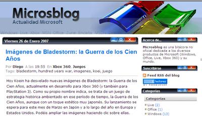 Microsblog.com, por fin un blog dedicado a Microsoft
