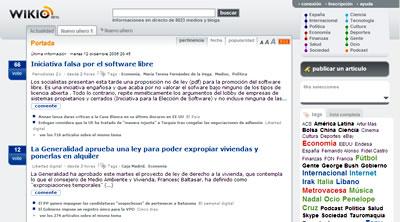 Wikio en español