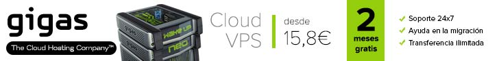 Cloud hosting VPS por Gigas