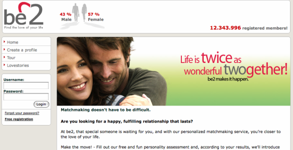 Be2 dating website