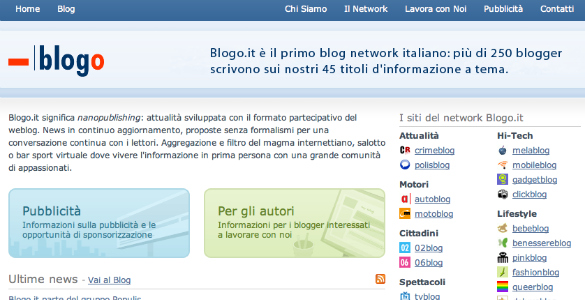 Populis compra la red de blogs italiana Blogo.it