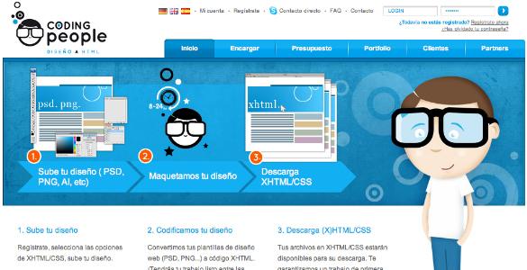 Coding People de diseño a HTML