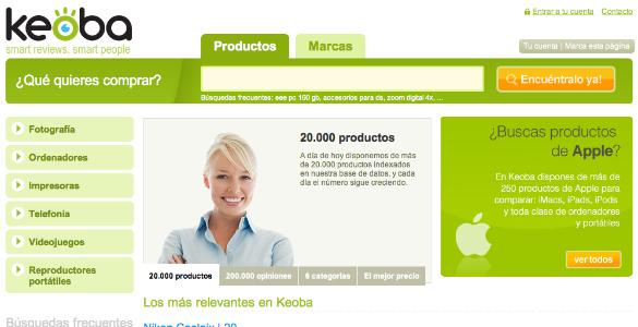 Keoba, agregador de opiniones sobre productos