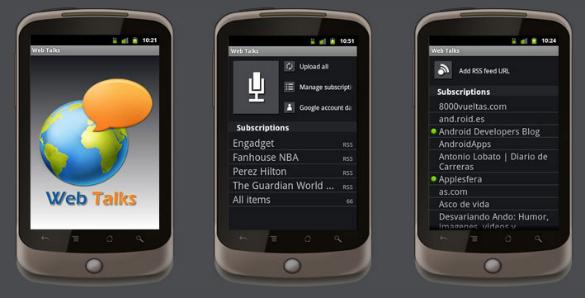 WebTalks permite escuchar un blog como fuese una radio