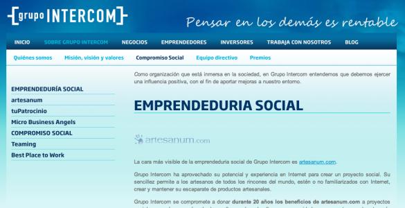 Grupo Intercom con el emprendimiento social