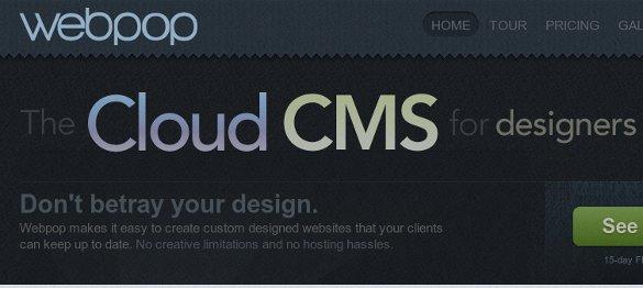 Webpop, el cloud CMS para desarrolladores