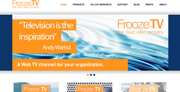 Frooze TV the cloud video company