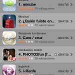 Minube número uno en el iPhone