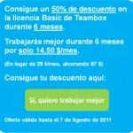 Oferta especial para Loogic: 50% de descuento en el el software de colaboración Teambox