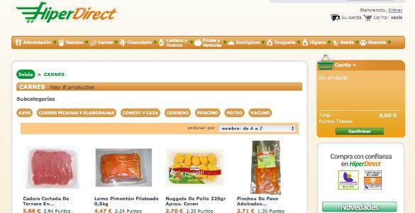 Hiperdirect en la competencia de los supermercados en internet