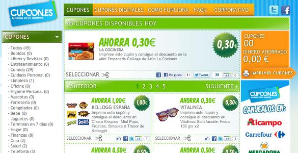 Cupoon y los cupones para supermercados