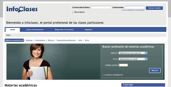 Infoclases, la web que ayuda a seleccionar el mejor profesor particular