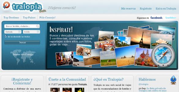 Tralopia, nueva web social de viajes