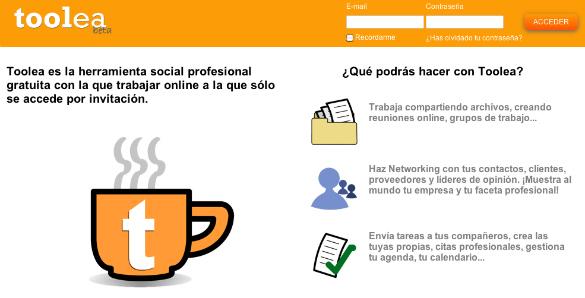 Toolea, nuevo servicio web de trabajo en grupo y productividad personal