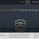 Cabify aplicación móvil para contratar vehículos exclusivos con chófer