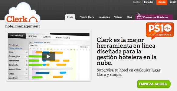 Clerk Hotel herramienta de gestión hotelera en la nube desarrollada en Chile