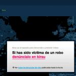 Kirau la web para denunciar y prevenir robos