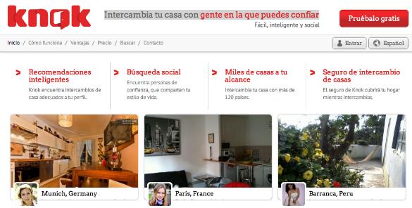 Knok nueva web de intercambio de casas