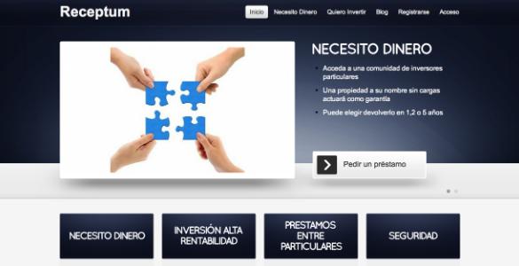 Receptum presenta los préstamos entre personas con garantía hipotecaria