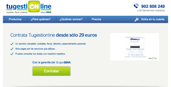 Tugestionline el servicio web contable, fiscal, laboral para las empresas