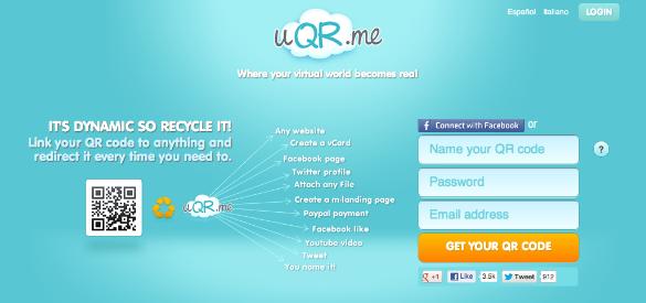 uQR.me para crear códigos QR dinámicos