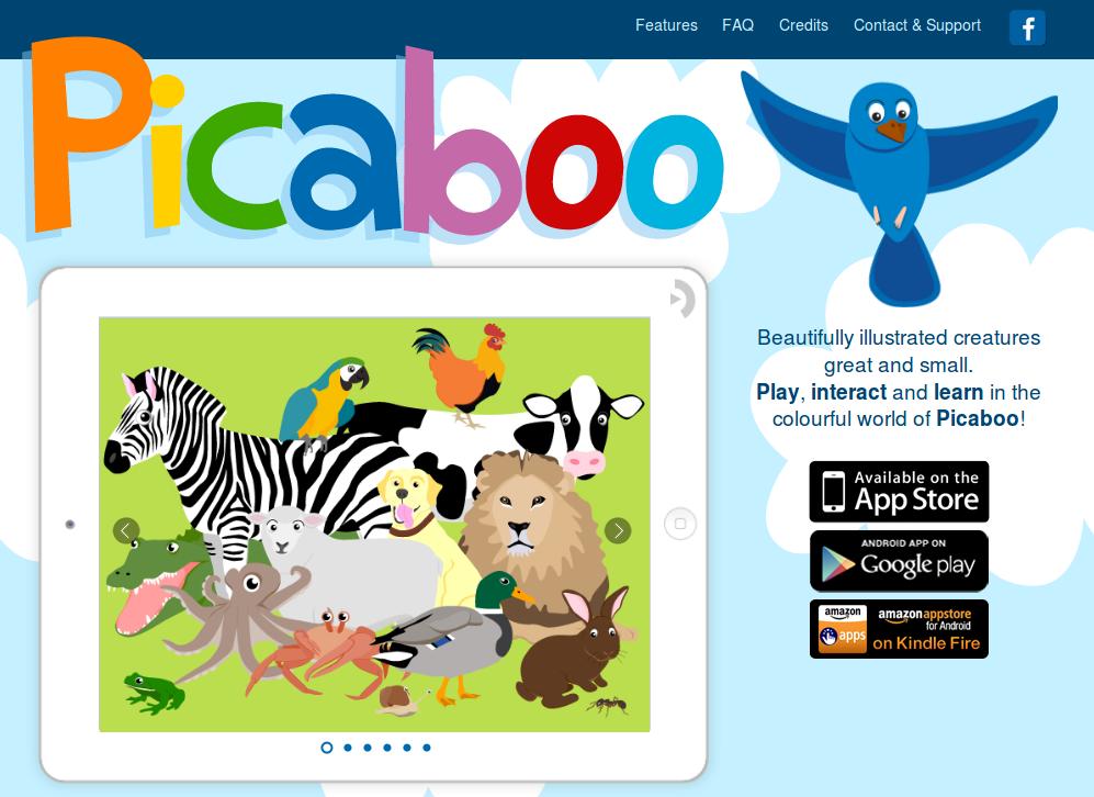 Aplicación táctil para bebés: Picaboo