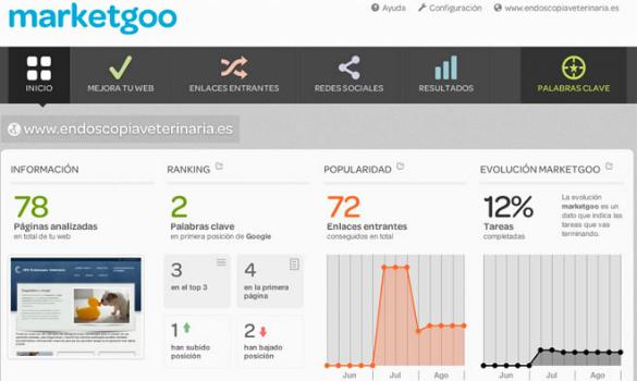 MarketGoo te ayuda a optimizar tu web en buscadores