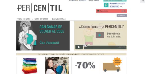Percentil.com, ropa de segunda mano para niños