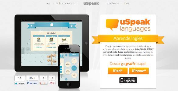 uSpeak te ayuda aprender idiomas en el móvil y por medio del juego