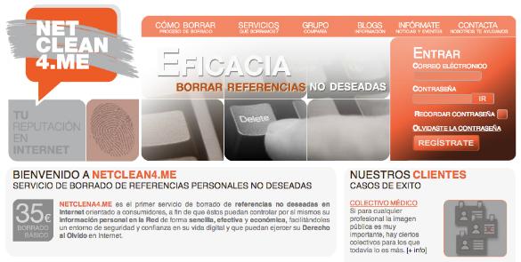 NetClean4me ayuda a borrar información no deseada en internet