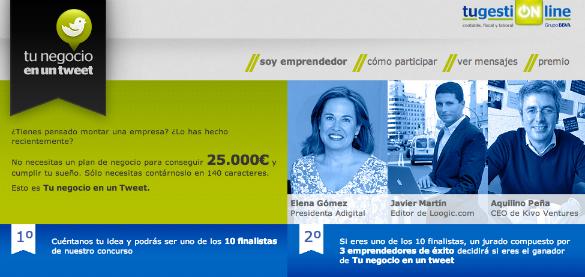25.000 euros para la mejor idea de negocio en el concurso Tu negocio en un tweet