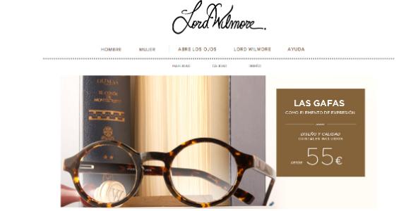 Lord Wilmore marca de gafas de diseño con distribución exclusiva online
