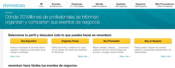 2,1 millones de euros de inversión en Neventum la web profesional de los eventos