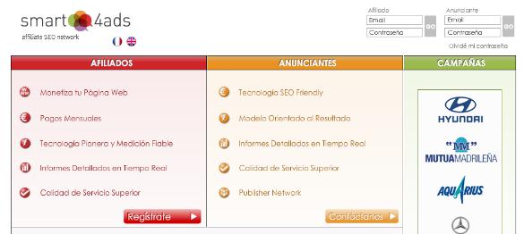 Smart4ads una red de afiliación enfocada al SEO