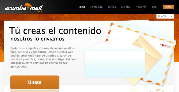 AcumbaMail quiere ser el mailchimp español