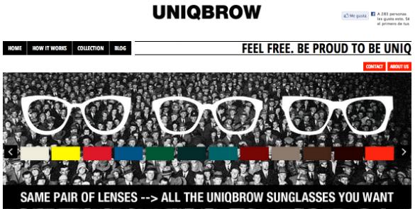 Uniqbrow recurre al crowdfunding para crear un nuevo estilo de gafas de sol