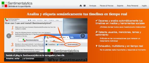 Sentimentalytics ofrece un plugin para el análisis semántico de medios sociales