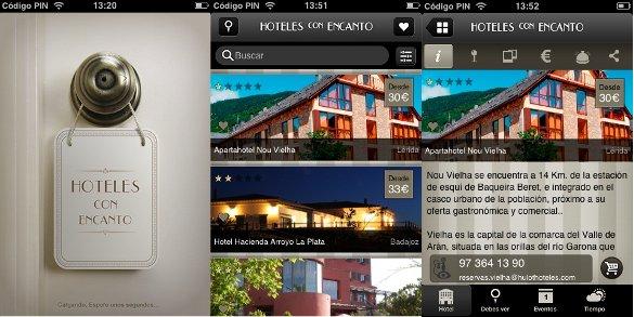 Análisis de aplicaciones móviles para «hoteles con encanto»