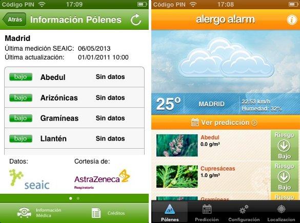 Aplicaciones móviles de alerta para alérgicos y métricas personales