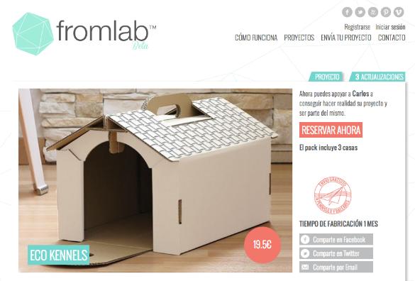 Fromlab, la plataforma de crowdfunding especializada en productos de diseño