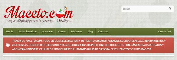 Maceto.com es la tienda online asociada con la app MacetoHuerto