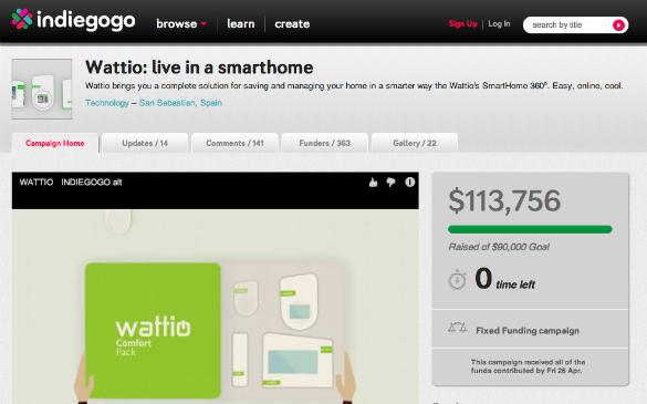 Wattio un nuevo caso de éxito español en crowdfunding