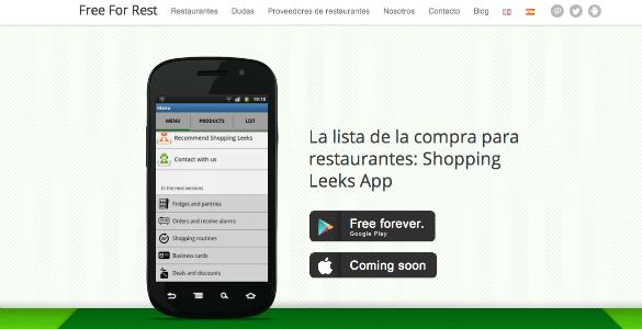 Free For Restaurant, una app para hacer la lista de la compra en de los restaurantes