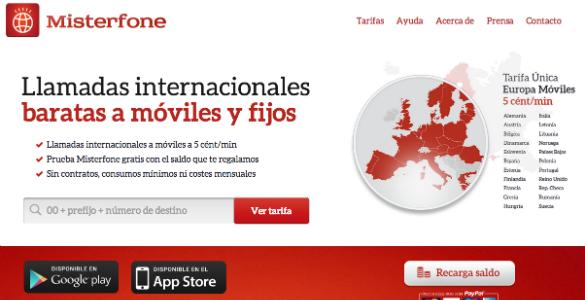 Misterfone, una app para llamar a móviles de Europa por 5 céntimos