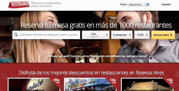 13,3 millones de dólares en Restorando para liderar el sector de los restaurantes en Latam