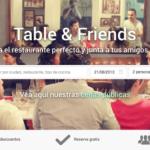 La startup portuguesa Table & Friends llega a España