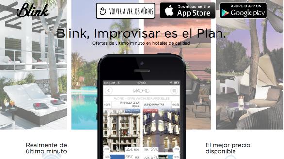Groupon compra la app española de reservas de hoteles de última hora Blink