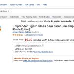 Ya puedes comprar mi libro Emprender Ligero en Amazon para Kindle