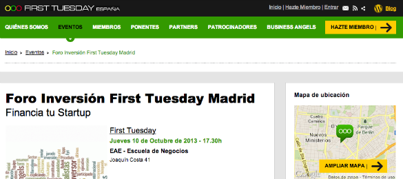 Presenta tu startup al Foro de Inversión First Tuesday Madrid