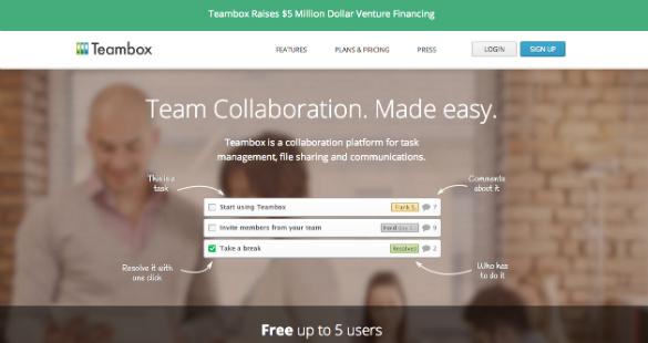 5 millones de dolares de inversión en Teambox